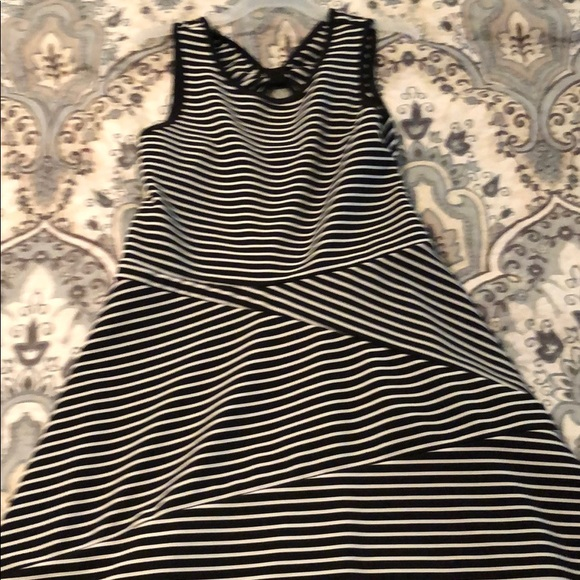 emily west Other - Girls size 14 black and white striped dress